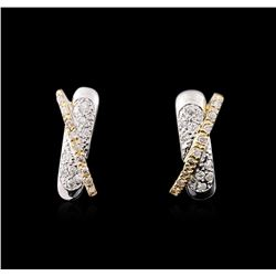 14KT Two-Tone Gold 0.50ctw Diamond Earrings