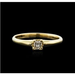 14KT Yellow Gold 0.20ct Diamond Solitaire Ring