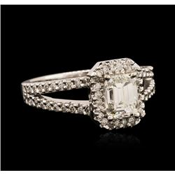 14KT White Gold EGL USA Certified 1.36ctw Diamond Ring
