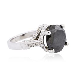 14KT White Gold 7.18ctw Black Diamond Ring
