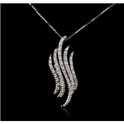 14-18KT White Gold 0.15ctw Diamond Pendant With Chain