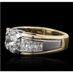 Platinum and 18KT Yellow Gold 4.91ctw Diamond Ring