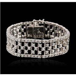 14KT White Gold 8.40ctw Diamond Bracelet