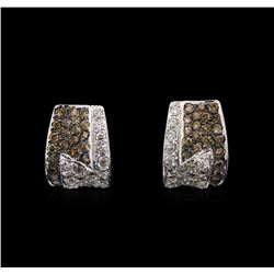 14KT White Gold 1.45ctw Diamond Earrings