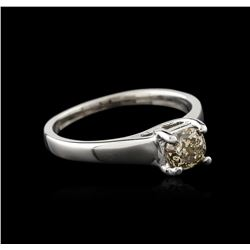 14KT White Gold 0.75ct Round Cut Fancy Brown Diamond Solitaire Ring