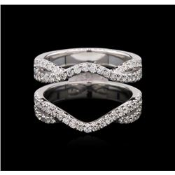 0.74ctw Diamond Wedding Ring Guard - 18KT White Gold