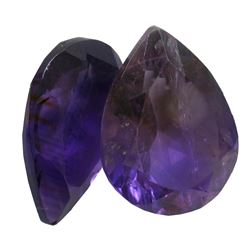 27.76ctw Pear Mixed Amethyst Parcel