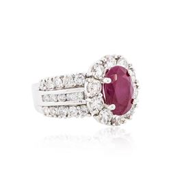 18KT White Gold 2.90ct Ruby and Diamond Ring