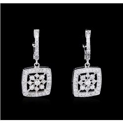 0.81ctw Diamond Earrings - 14KT White Gold
