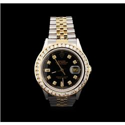 Rolex 14KT Two-Tone 2.50ctw Diamond DateJust Men's Watch