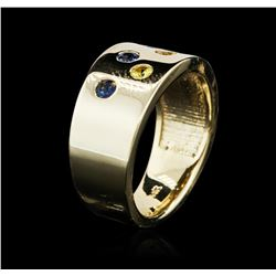 14KT Yellow Gold 0.60ctw Sapphire Ring