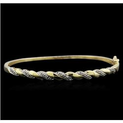 0.20ctw Diamond Bangle Bracelet - 10KT Yellow Gold