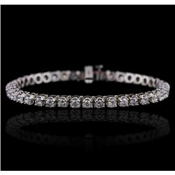 14KT White Gold 4.47ctw Diamond Bracelet