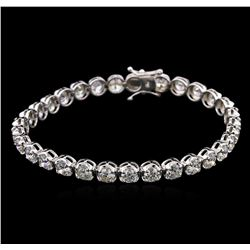 10.00ctw Diamond Tennis Bracelet - 18KT White Gold
