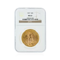 1927 NGC MS63 $20 St. Gaudens Double Eagle Gold Coin