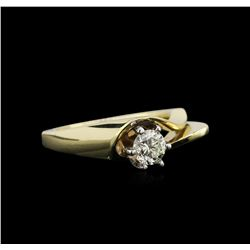 0.50ct Diamond Solitaire Ring - 14KT Yellow Gold