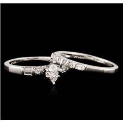 Platinum 0.85ctw Diamond Wedding Ring Set