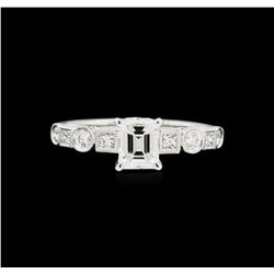 EGL USA Cert 1.39ctw Diamond Ring - 18KT White Gold