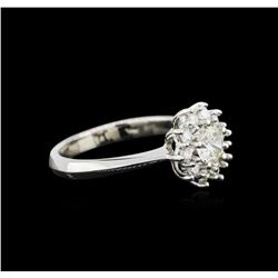 14KT White Gold 0.78ctw Diamond Ring