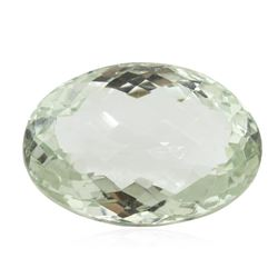 31.41ct. Oval Cut Oval Briollette Cut Green Quartz