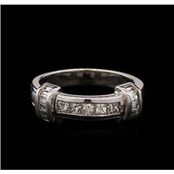 1.51ctw Diamond Wedding Band - 14KT White Gold