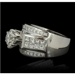 18KT White Gold 3.70ctw Diamond Ring