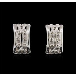 14KT White Gold 0.20ctw Diamond Earrings