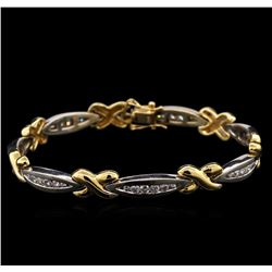 1.50ctw Diamond Bracelet - 14KT Two-Tone Gold