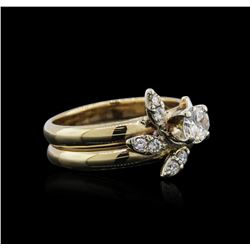 14KT Yellow Gold 0.60ctw Diamond Ring
