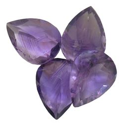 27.57ctw Pear Mixed Amethyst Parcel