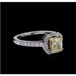 1.41ctw Fancy Yellow Diamond Ring - 14KT Two-Tone Gold
