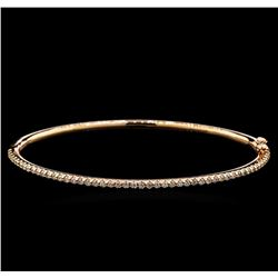 0.81ctw Diamond Bangle Bracelet - 14KT Rose Gold