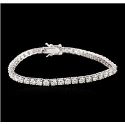 14KT White Gold 5.52ctw Diamond Tennis Bracelet