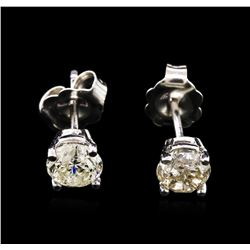 0.96ctw Diamond Stud Earrings - 14KT White Gold