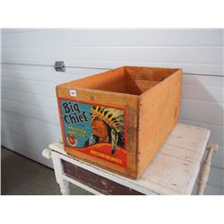 Vintage Apple box With Big Chief Label