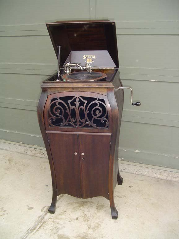 Beau Sonora Bombay Style Cabinet Model Wind Up Phonograph. Loading Zoom