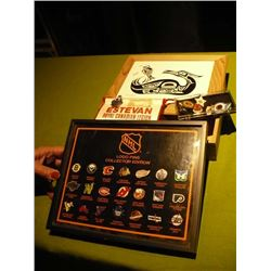Trinket Box 24 karat inset / NHL Pins