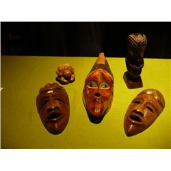 Tikki Mask Wood Sculptures