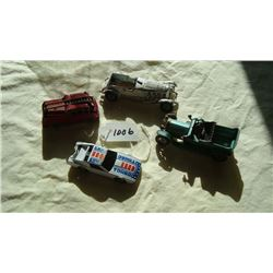 Matchbox Yesteryear Cars (3) and HotWheel Car (1)