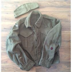 Canadian WWII Coat & Wedge Cap