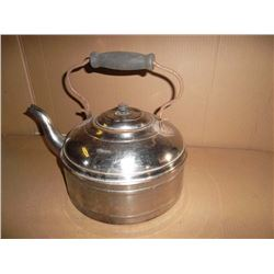 Large Old Copper Kettle