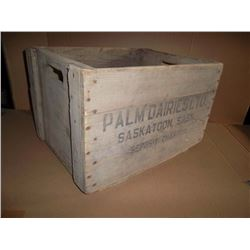 Palm Dairies Wooden Carry Case
