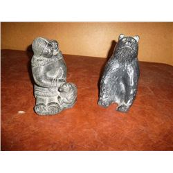 Soap Stone Carvings Pair