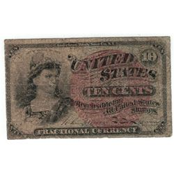 March 3, 1863 10 Cent Fractional Currency