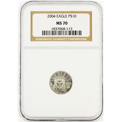 2004 $5 American Platinum Eagle Coin NGC Graded MS70
