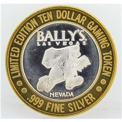 Bally's Las Vegas $10 Casino Gaming Token .999 Fine Silver Limited Edition