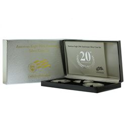 2006 $1 American Eagle 20th Anniversary Silver (3) Coin Set