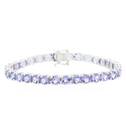 14KT White Gold 14.68ctw Tanzanite Bracelet