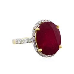 14KT Yellow Gold 9.30ct Ruby and Diamond Ring