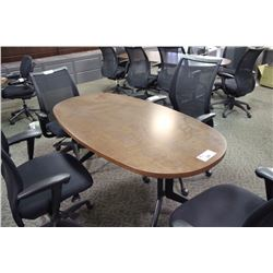 CHERRY FT MOBILE CONFERENCE TABLE - 5 ft conference table